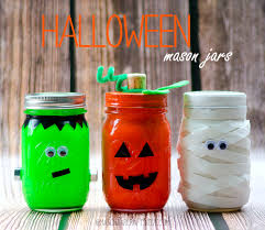 Halloween Candy Jar Ideas by Halloween Mason Jars Mason Jar Crafts Frankenstein Pumpkin And