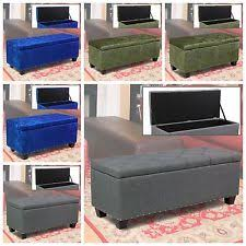 Storage Ottoman Bench Seat Storage Ottoman Bench Ebay