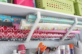 how to store wrapping paper and gift bags organizing craft supplies pigskins pigtails