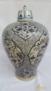 Chinese Blue And White Vase Antique Chinese Blue And White Porcelain Ming Vase With Cover