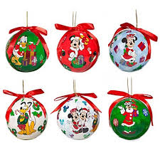 your wdw store disney ornament set decoupage santa