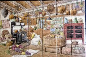 Kitchen Tile Backsplash Murals Kitchen Photos View Of Kitchen Tile