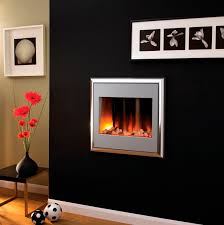 electric fireplace contemporary closed hearth wall mounted