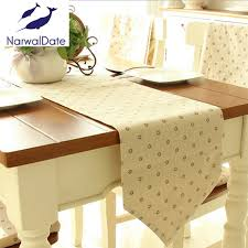 table runner for coffee table korean high quality cotton linen tablerunner tablecloths coffee