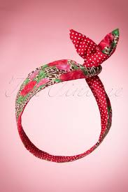 hair bands 50s i want roses and polkadots in my hair scarf