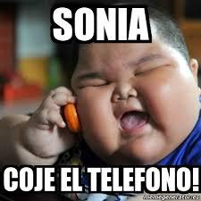Sonia Meme - meme fat chinese kid sonia coje el telefono 7567724