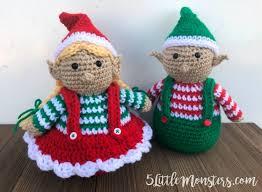 crocheted christmas 5 monsters crocheted christmas elves