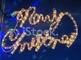 illuminated merry sign white led light