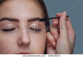 Henna Eye Makeup Master Makeup Corrects Gives Shape Pull Stock Photo 542694034