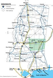 state highway map mid mississippi development district