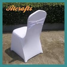 factory wholesale white wedding spandex lycra elastic chair cover