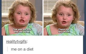 Honey Boo Boo Meme - honey boo boo has her first and last salad of her life