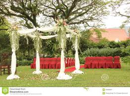 wedding arch garden garden wedding arch decoration stock photo image 55668964