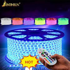 outdoor led strip lights waterproof 1m 16 colors rgb led strip lights smd5050 remote control waterproof