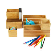 organiseur de bureau en bois organisateur tiroirs bois rangement bureau