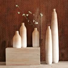 West Elm Vases Wooden Ombre Vases West Elm