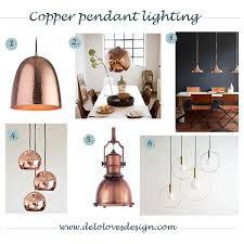 Copper Light Pendants Pendant Lighting Copper Finish Delo Design