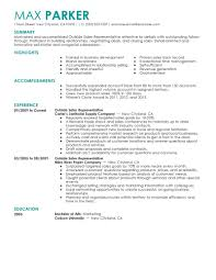 Salesperson Resume Example by Best Outside Sales Representative Resume Example Livecareer