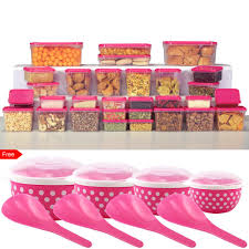 Pink Kitchen Canisters Joyo Plastic Containers Buy Joyo Plastic Containers Online At