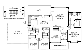 floor split ranch floor plans