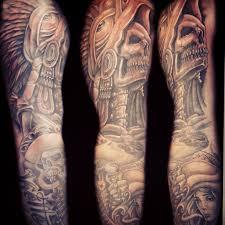 sleeve tribal aztec tattoo design full sleeve tribal aztec tattoos