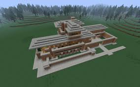 the robie house frank lloyd wright recreation minecraft project front top view