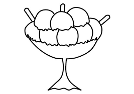 strawberry flavoured ice cream colouring page strawberry