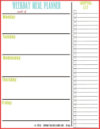 printable meal planner free free meal planner menu planning menu and template with regard to