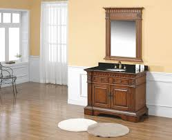 Grey Wood Bathroom Vanity Brown High Gloss Finish Wooden Bath Vanity With Black Combo Sink
