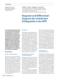 Ewe K Hen Diagnosis And Differential Diagnosis Of Graves U0027 Orbitopathy In Mri
