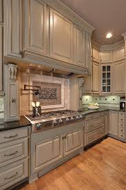 Neutral Colored Kitchens - putty color kitchen traditional with rafters