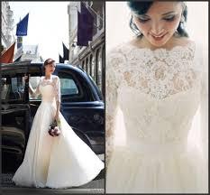 3 4 sleeve bridesmaid dresses discount sheer a line wedding dresses 3 4 sleeves arabic