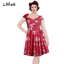 online get cheap red summer skater dress aliexpress com alibaba
