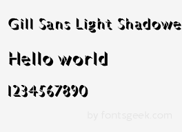 gill sans light font gill sans light regular download for free view sle text