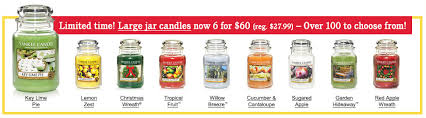 yankee candle sale large jar candles 6 for 60 reg 28 each