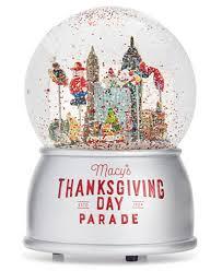 macy s 2017 thanksgiving day parade snow globe snow globes