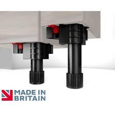 set of 4 folding fix cabinet leg 90 165mm inc 2 x pressure clip