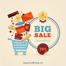 big sale template vector free download
