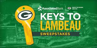 packers fans invited to enter associated bank u0027s u201ckeys to lambeau