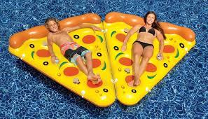amazon com swimline giant inflatable pizza slice toys u0026 games