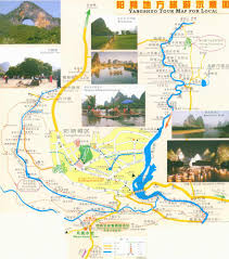 Guilin China Map by Turism Map Of Yangshuo