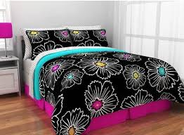 Teen Floral Bedding Pink Black Floral Aqua Twin Twin Xl Girls Teen Comforter Shams
