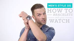 mens watches with bracelet images Men 39 s style 101 how to wear bracelets with your watch jpg