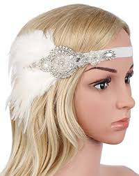 great gatsby hair accessories babeyond 1920s flapper headband 20s great gatsby headpiece white