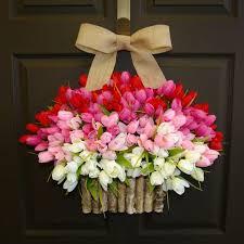 front door wreath ideas spring tulips wreath valentine wreaths easter wreaths birch