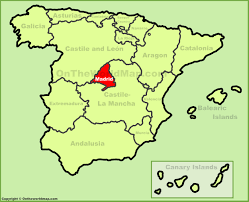 Ireland On Map Where Is Madrid In Spain On The Map Ireland Map
