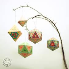 christmas ornaments papercraft diy paper tree home decor