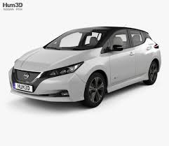 nissan leaf interior nissan leaf with hq interior 2018 3d model hum3d