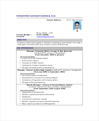 Resume Sample For Accountant Position by Chartered Accountant Resume Template 5 Free Word Pdf Documents