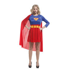 halloween costumes superwoman online get cheap blue supergirl aliexpress com alibaba group
